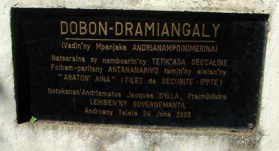 Dobon Dramiangaly: lac de Ramangialy